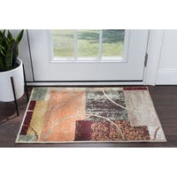 Alise Rugs Decora Contemporary Abstract Scatter Mat Rug - multi - 2' x 3'