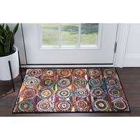 Alise Rugs Rhapsody Contemporary Circles Scatter Mat Rug - multi - 2' x 3'