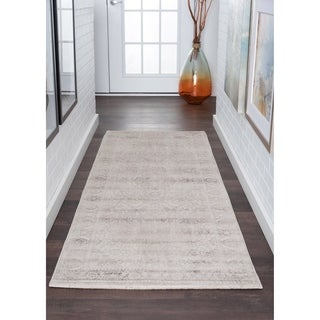 Alise Essence Cream Transitional Oriental Runner Rug (2'7'x 9'10')