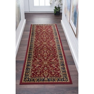 Alise Rugs Soho Transitional Border Runner Rug - 2'3 x 10'