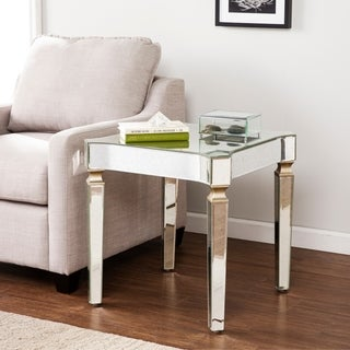 Harper Blvd Clarendon Antique Silver Mirrored Glam End Table