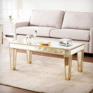 Harper Blvd Martell Metallic Champagne Mirrored Glam Cocktail Table