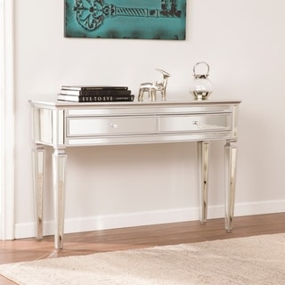 Tilton Silver Mirrored Glam Console Table