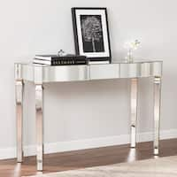 Harper Blvd Clarendon Antique Silver Mirrored Glam Console Table