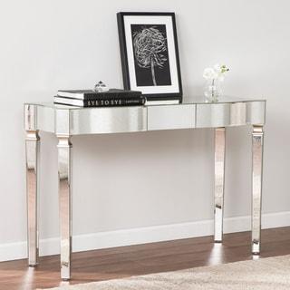 Harper Blvd Clarendon Antique Silver Mirrored Glam Console Table
