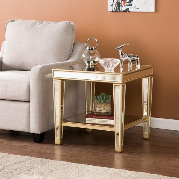 Champagne Mirrored Coffee Table: Shop Harper Blvd Martell Metallic Champagne Mirrored Glam