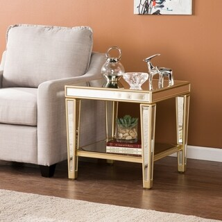 Harper Blvd Martell Metallic Champagne Mirrored Glam End Table