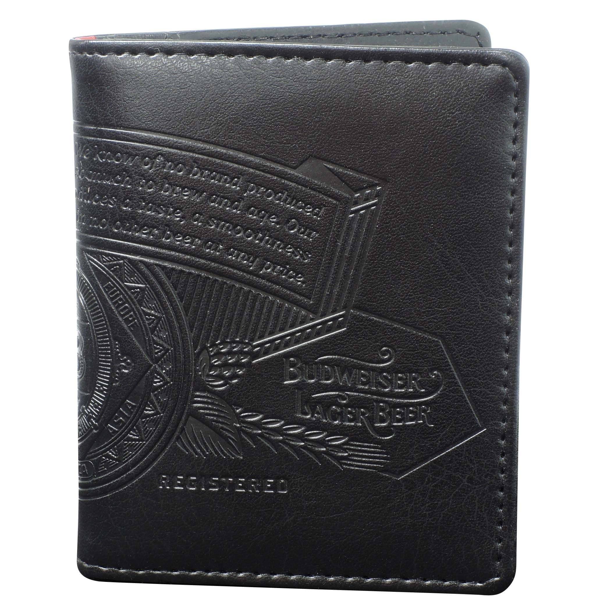Buxton Bow Tie Two-Fold Wallet with Zip Coin Pocket (Blac...