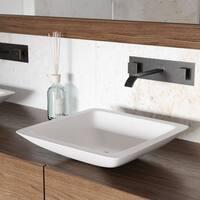 VIGO Begonia Vessel Bathroom Sink and Titus Wall Mount Faucet Set