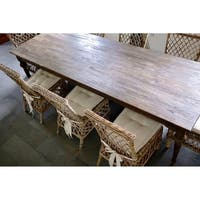 Maison Rouge Angelou Brown Teak Wood 260 Dining Table