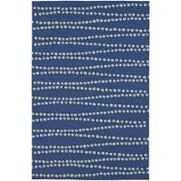 ADDISON Venice Dot Blue Matrix Indoor-Outdoor Area Rug (8' x 10')