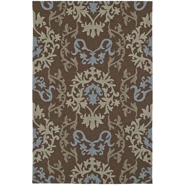 Damask Taupe Rug: Shop ADDISON Venice Damask Brown/Taupe Indoor-Outdoor Area