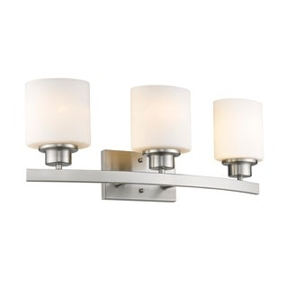 Chloe Transitional 3-light Brushed Nickel Bath/Vanity Light