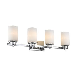Chloe Transitional 4-light Chrome Bath/Vanity Light