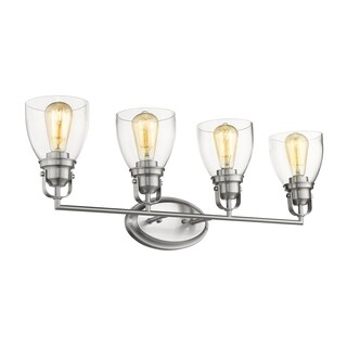 Chloe Transitional 4-light Brushed Nickel Bath/Vanity Light