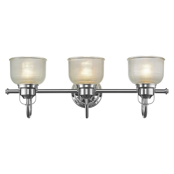 Shop Chloe Transitional 3 Light Chrome Bath Vanity Light