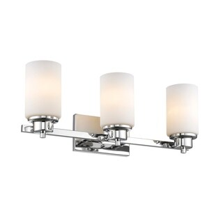 Chloe Transitional 3-light Chrome Bath/Vanity Light
