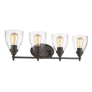 Chloe Transitional 4-light Oil Rubbed Bronze Bath/Vanity Light