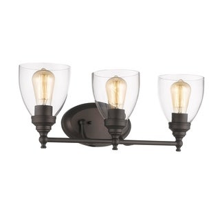 Chloe Transitional 3-light Oil Rubbed Bronze Bath/Vanity Light