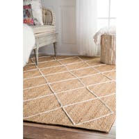 Oliver & James Minter Handmade Braided Jute Area Rug - 10' x 14'