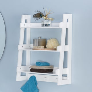 Amery Collection Ladder Wall Shelf (Option: White)
