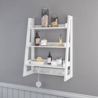 RiverRidge Amery Collection Wall Shelf with Hooks