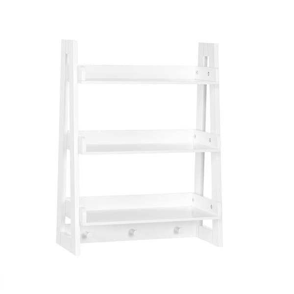 RiverRidge Amery Collection Wall Shelf with Hooks - N/A