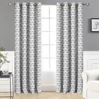 DriftAway Zoe Chevron Room Darkening/Thermal Window Curtain Panel Pair