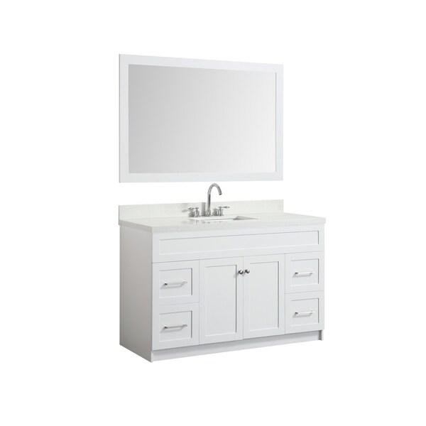 Shop Ariel Hamlet White Wood 55 Inch Single Sink Vanity Set With