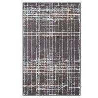 Superior Designer Painted Stripes Area Rug collection  (4' x 6') - 4' x 6'