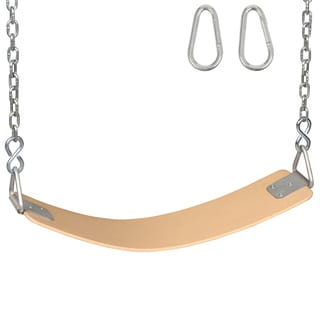 Swing Set Stuff Inc. Polymer Belt Seat with Chains and Hooks