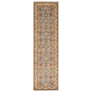 Handmade Kazak Wool Runner (India) - 2'6 x 10'