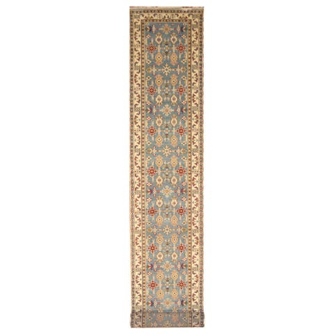Handmade Kazak Wool Runner (India) - 2'6 x 20'