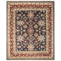 Handmade Herat Oriental Indo Hand-Knotted Kazak Wool Rug (8' x 10') - 8' x 10'