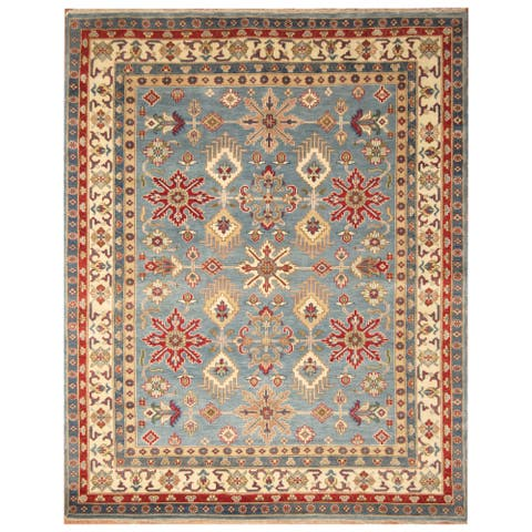 Handmade Kazak Wool Rug (India) - 8' x 10'
