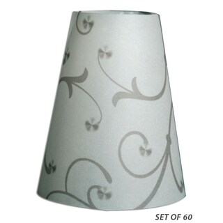 Royal Designs Flower Silhouette Vellum Paper Wine Glass Tea Light Lampshade- Set of 60