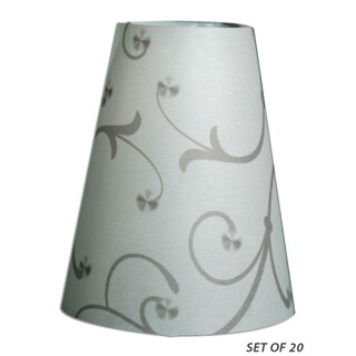 Royal Designs Flower Silhouette Vellum Paper Wine Glass Tea Light Lampshade- Set of 20