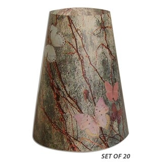 Royal Designs Butterfly in Nature Vellum Paper Wine Glass Tea Light Lampshade- Set of 20