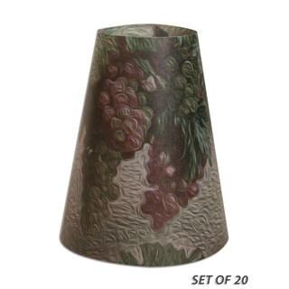 Royal Designs Wine Grapes Vellum Paper Wine Glass Tea Light Lampshade- Set of 20