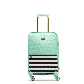 Macbeth Madison Mint 21-inch Carry On Qulited Spinner Suitcase
