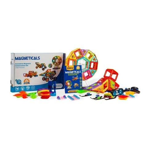 Dimple Magneticals Tile Set for Kids (choose from 71, 168 or 198 -Piece Set) Stack