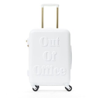 Macbeth Out of Office White 21-inch Carry On Hardside Spinner Suitcase