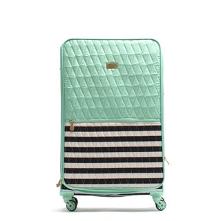 Macbeth Madison Mint 28-inch Quilted Spinner Upright Suitcase