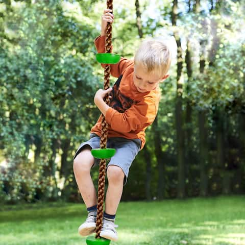 Climbing Rope Knotted Tree Swing Ladder- by Hey! Play!