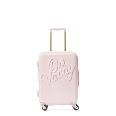 Macbeth On Vacay Pink 21-inch Carry On Hardside Spinner Suitcase
