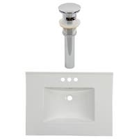 30.75-in. W 3H4-in. Ceramic Top Set In White Color - Overflow Drain Incl.