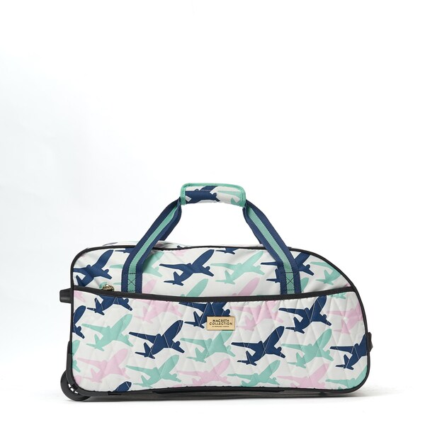 Macbeth Collection Take me Away 21.5-inch Carry On Rolling Duffel Bag