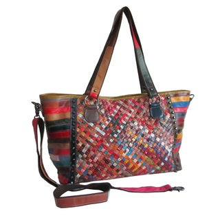 Amerileather Cecily Woven Tote Bag