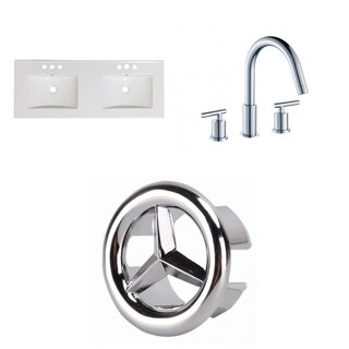 59-in. W 3H8-in. Ceramic Top Set In White Color - CUPC Faucet Incl.