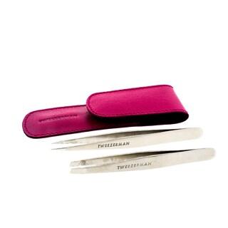 Tweezerman Petite Tweeze Set with Pink Case